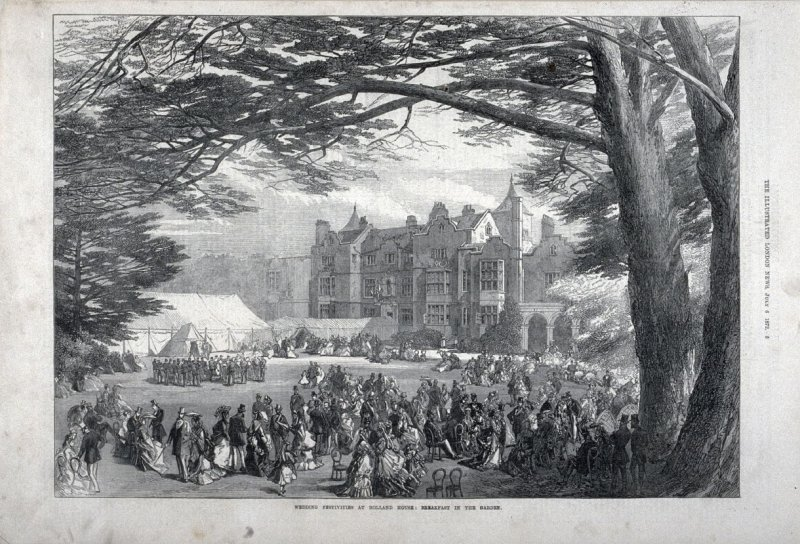 Wedding Festivities at Holland House, from The Illustrated London News (6 July 1872)