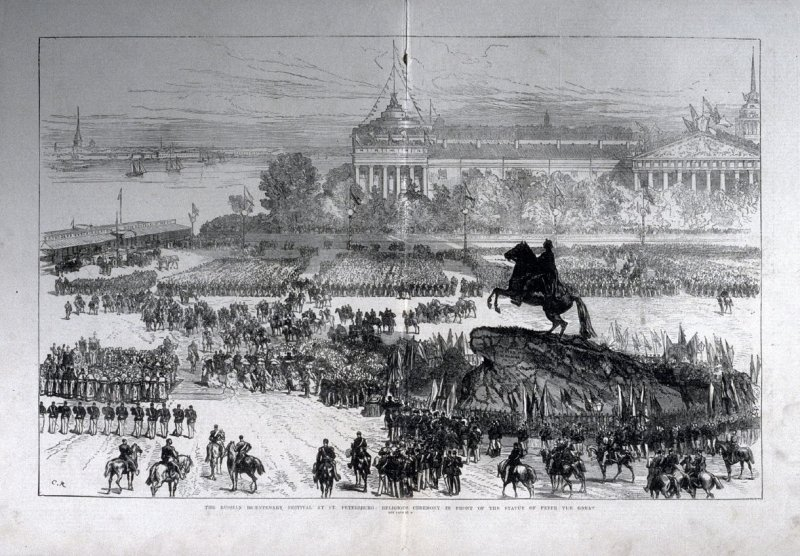 The Russian Bicentenary Festival at St. Petersburg-pages 32 & 33 from The Illustrated London News (12 July 1872)