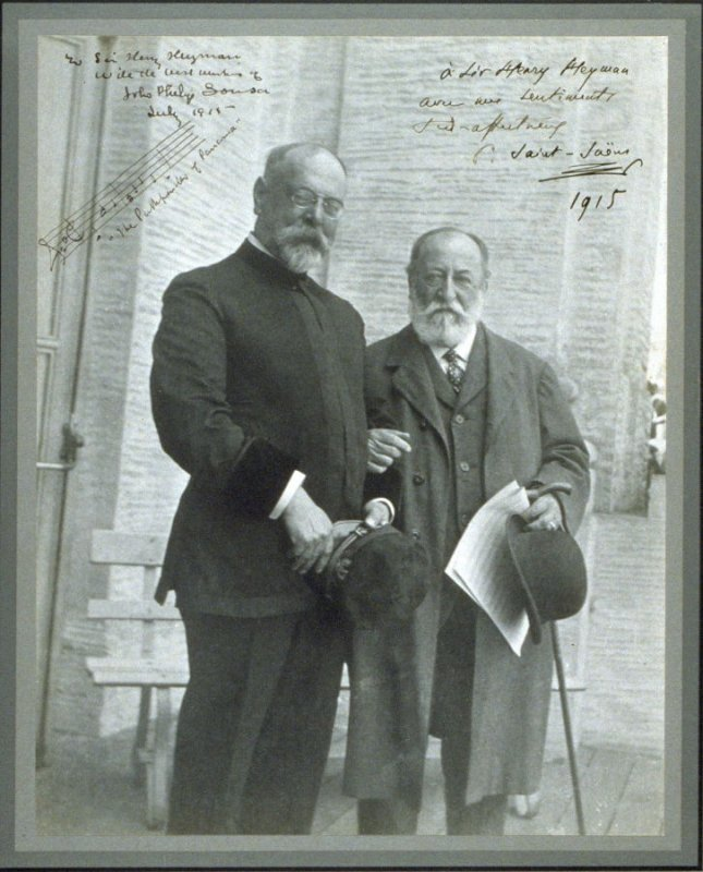 John Philip Sousa and Charles-Camille Saint-Saëns at the Panama-Pacific International Exposition