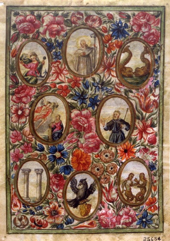 Parchment - Miniature (small Medaillons against floral background