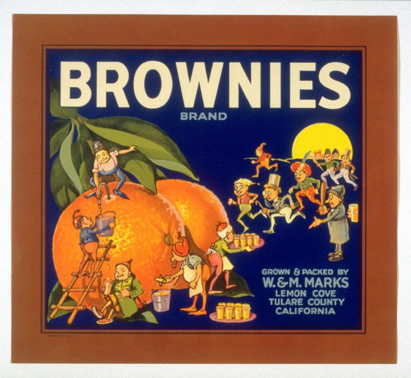 Brownies Brand, W. & M. Marks, Lemon Cove, Tulare County, California