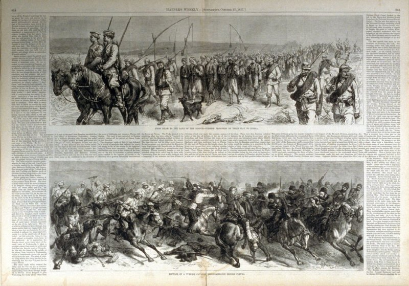 Sketches of the Turko-russian War - from Harper's Weekly, (October 27. 1877), pp. 854 & 855
