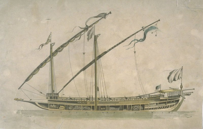 (Cross section of sailing ship)