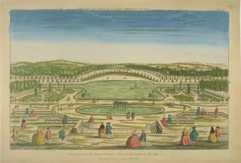 Vue d'optique of the grand parterre at Chantilly