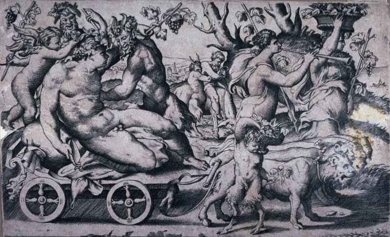 Bacchanale with Bacchus, Silenus and Bacchantes