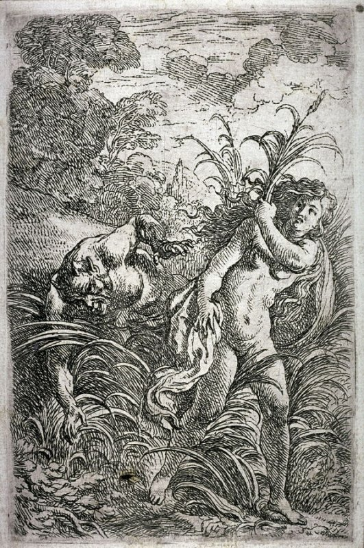 A Satyr Chasing a Nymph