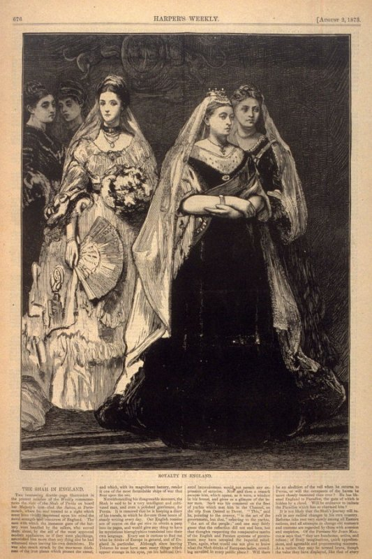 Royalty in England, from Harper's Weekly, (2 August 1873), p. 676(