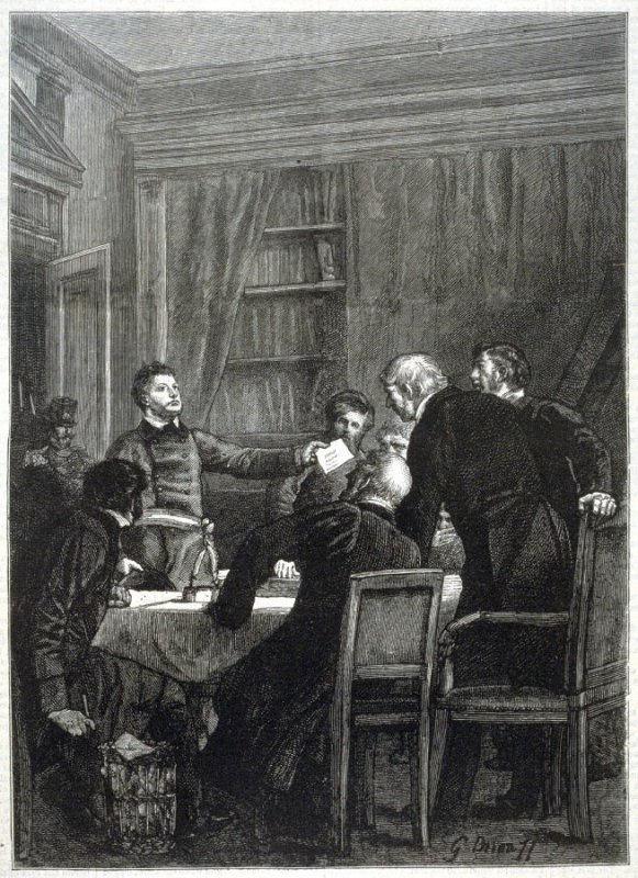 The Dissolution of the High Court of Justice - from Harper's Weekly, (1 December 1877), p. 941