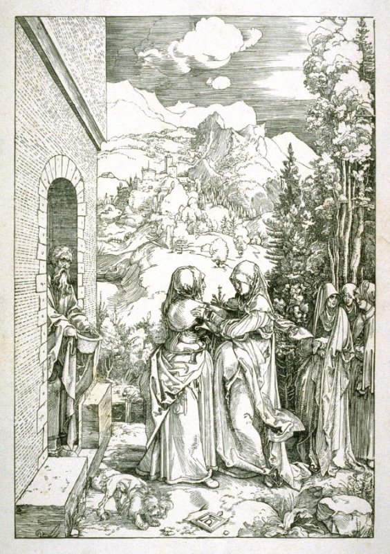 Copy after Durer's The Visitation, from the life of the Virgin
