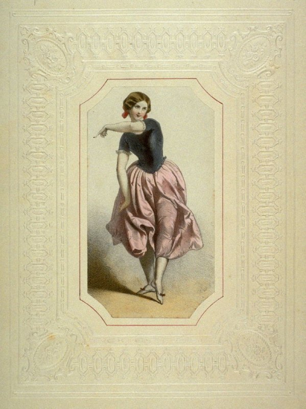 Young French Woman in dancing costume,1850-1860