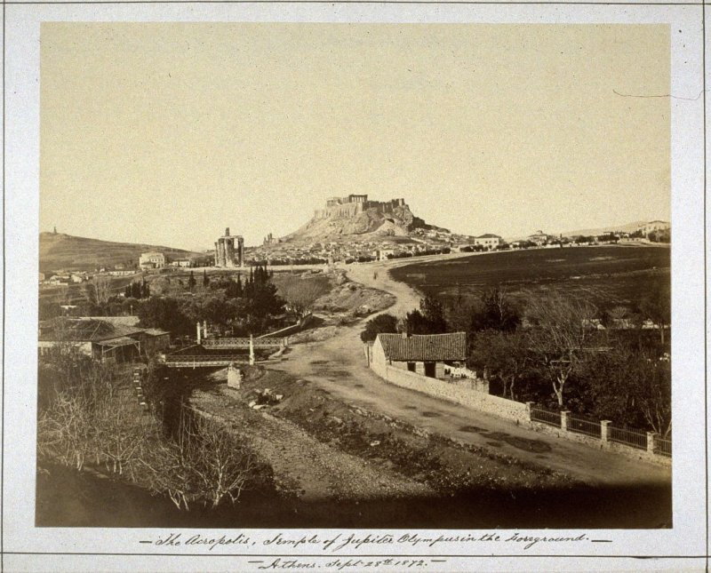 The Acropolis, Temple of Jupiter Olympus in the foreground/ Athens September 28, 1872