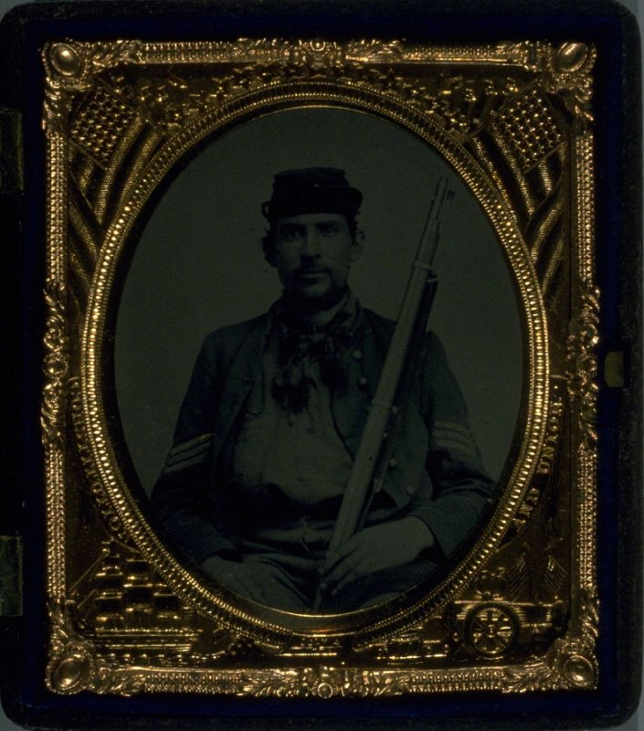 Union soldier with his rifle