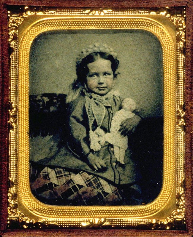 Portrait of Emily Tucker at age five