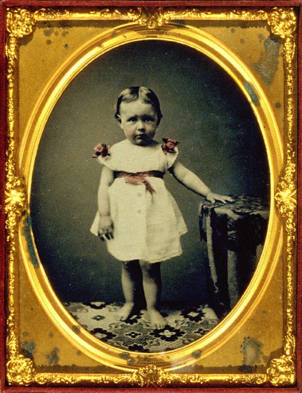Portrait of Emily Tucker at age two