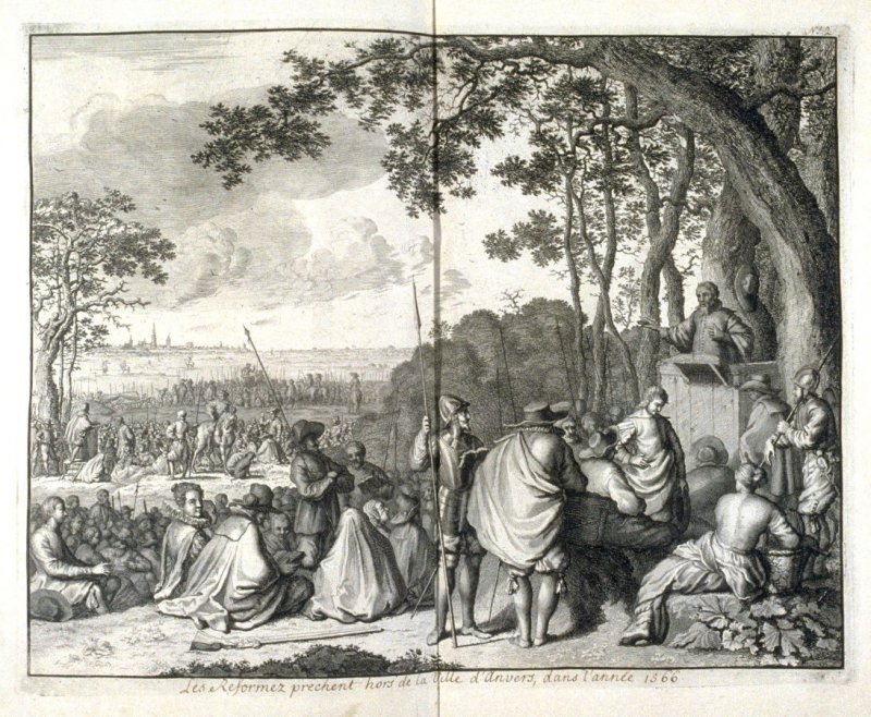 A Meeting of Protestants outside the city of Antwerp, in the year 1566 - Pl.4 from: Netherlands 1566-1672
