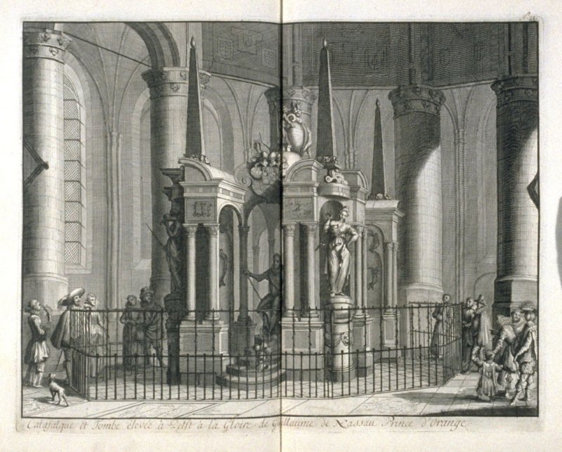 Catafalque and Tombe Erected in Delft in Honor of William of Nassau, Prince of Orange - Pl.23 from: Netherlands 1566-1672