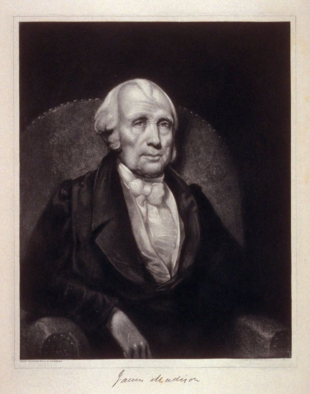 Portrait of James Madison - from the Portfolio Portraits of the Presidents (Twenty-five)