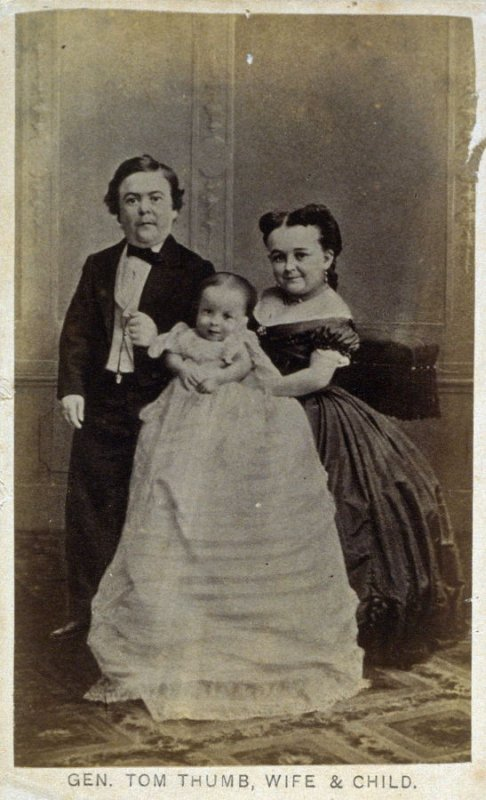 General Tom Thumb, wife and child
