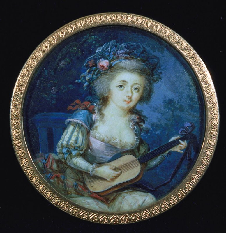 Portrait of a woman with a lute
