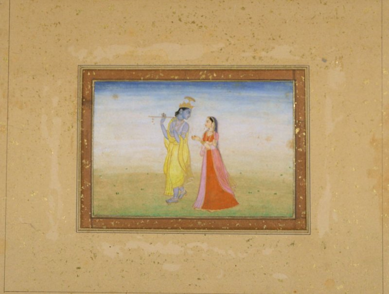 Krishna Fluting for Radha