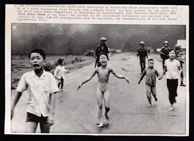 Vietnamese Child Fleeing Napalm Attack