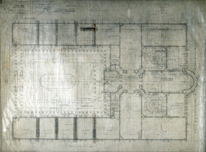 California Palace of the Legion of Honor: First Floor Plan, third from a group of nineteen presentation drawings