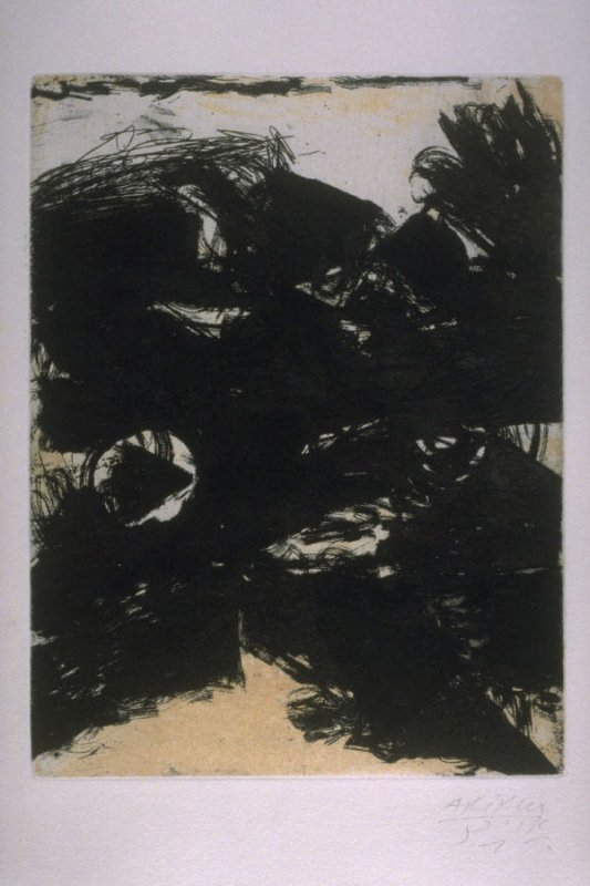 Frontispiece, in the book L'Issue by Samuel Beckett (Paris: Les Éditions Georges Visat, 1968)