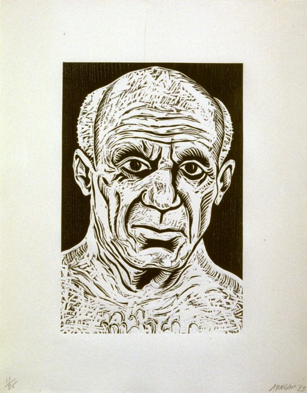Pablo Picasso, from the series Five Guys