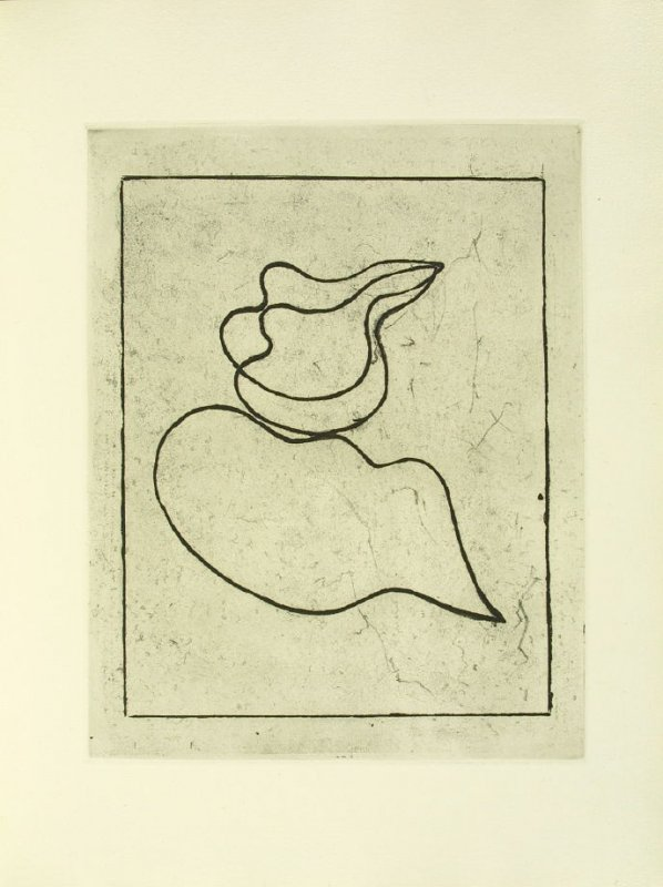 Untitled Abstract Illustration in the book Vers le blanc infini by Jean Arp (Paris: La Rose des Vents, 1960).