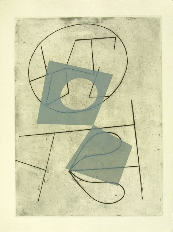 Untitled Abstact Illustration, in the suite, in the book Vers le blanc infini by Jean Arp (Paris: La Rose des Vents, 1960).