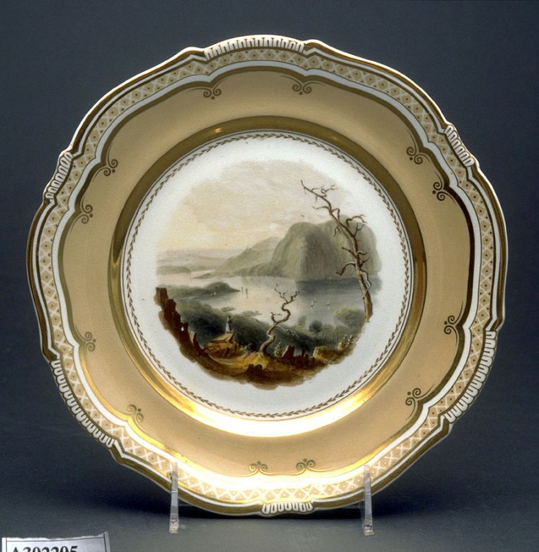 Plate (Crow Nest from Bull Hill, Hudson River, America)