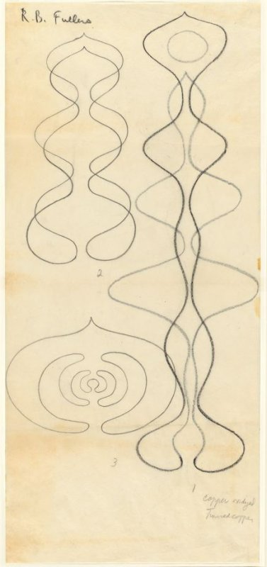 Untitled (Looped wire, long lobed, and in and out sculptures)