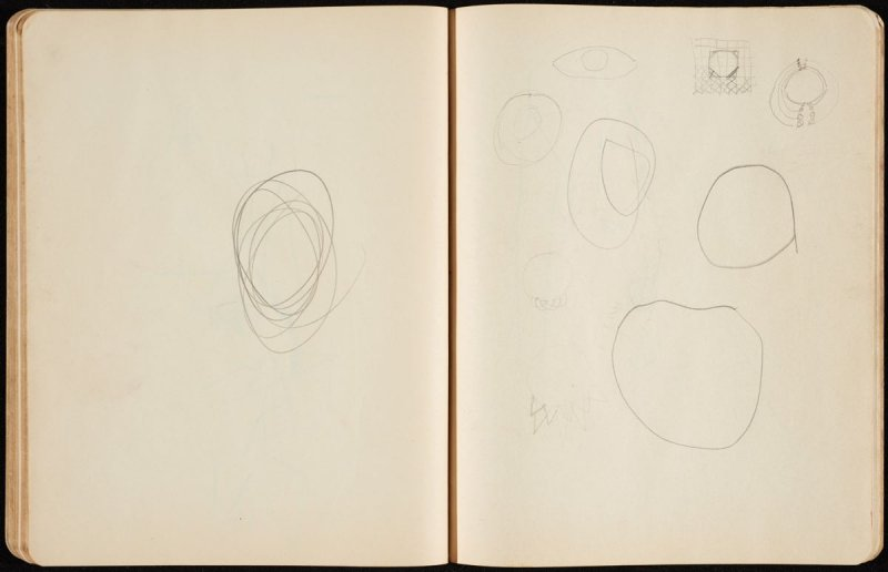 Untitled, sketch of drawings from p.3