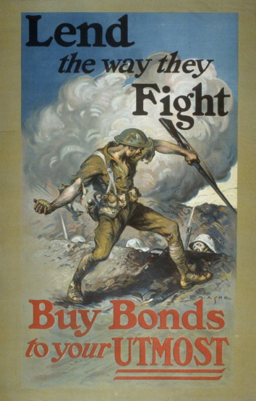 Lend the Way They Fight / Buy Bonds To Your Utmost - World War I Poster