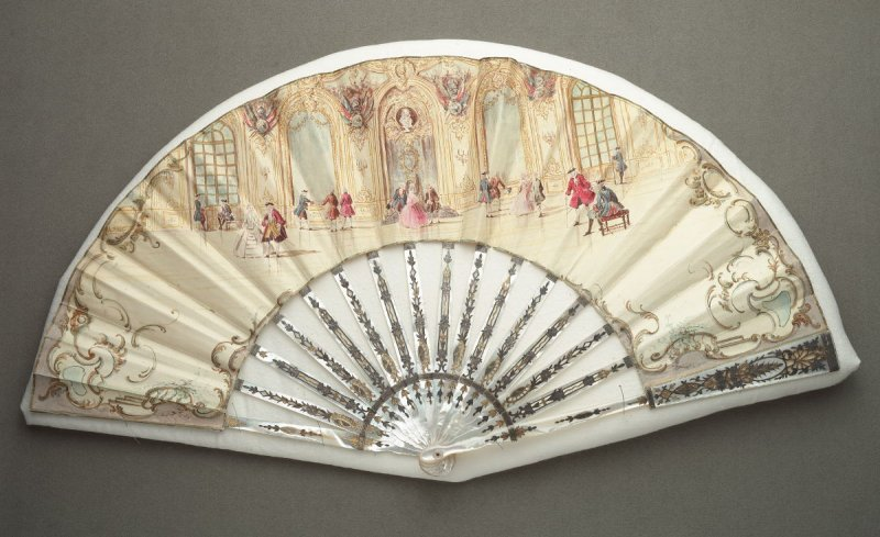 Fan, Court Scene in the Eighteenth Century