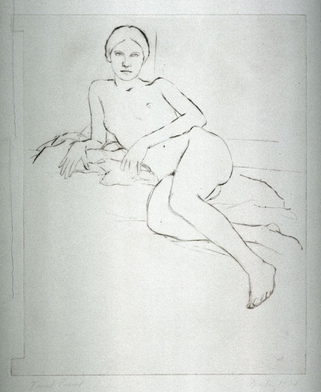 Untitled, trial proof (nude in a reclining position)