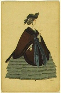 Une dame anglaise, no. 2 from the series Costume for La Fée des poupées