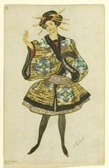 Une poupée japonaise, no. 6 from the series Costume for La Fée des poupées
