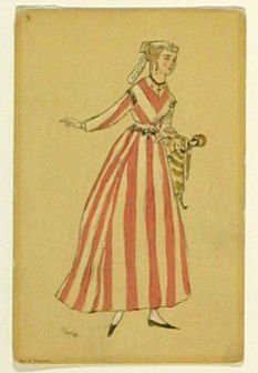 Une femme de chambre, no. 9 from the series Costume for La Fée des poupées