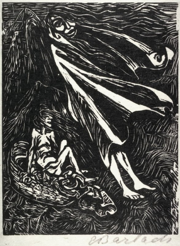 Hexenreise (Witch's Journey) from the series of Goethe's Walpurgisnacht