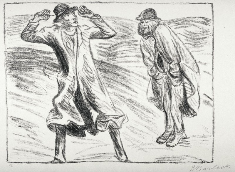 Ungleiches Paar 2 (Unlikely Pair 2), sixth plate from the portfolio volume of Der Arme Vetter (Berllin: Paul Cassirer, 1919)