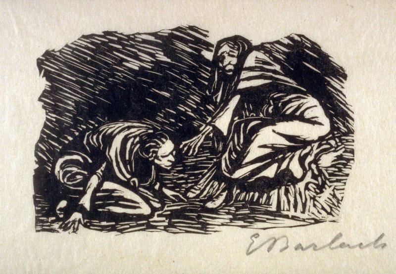 Elise, kniend vor der Mutter (Elise Kneeling before her Mother), plate 10 in the separate portfolio accompanying the book Der Findling (Berlin: Paul Cassirer, 1922)