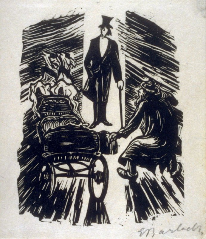 Der hohe Herr (The Master), plate 17 in the separate portfolio accompanying the book Der Findling (Berlin: Paul Cassirer, 1922)