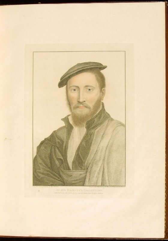 Portrait of an Unknown Gentleman, plate 13 in the book Imitations of Original Drawings by Hans Holbein in the Collection of His Majesty (London: John Chamberlaine, 1792)