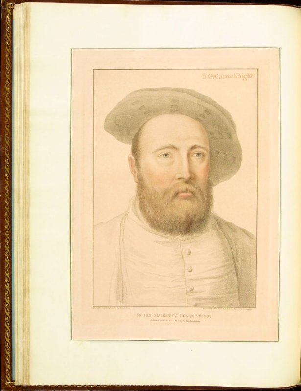 Sir George Carew , plate 22 in the book Imitations of Original Drawings by Hans Holbein in the Collection of His Majesty (London: John Chamberlaine, 1792)