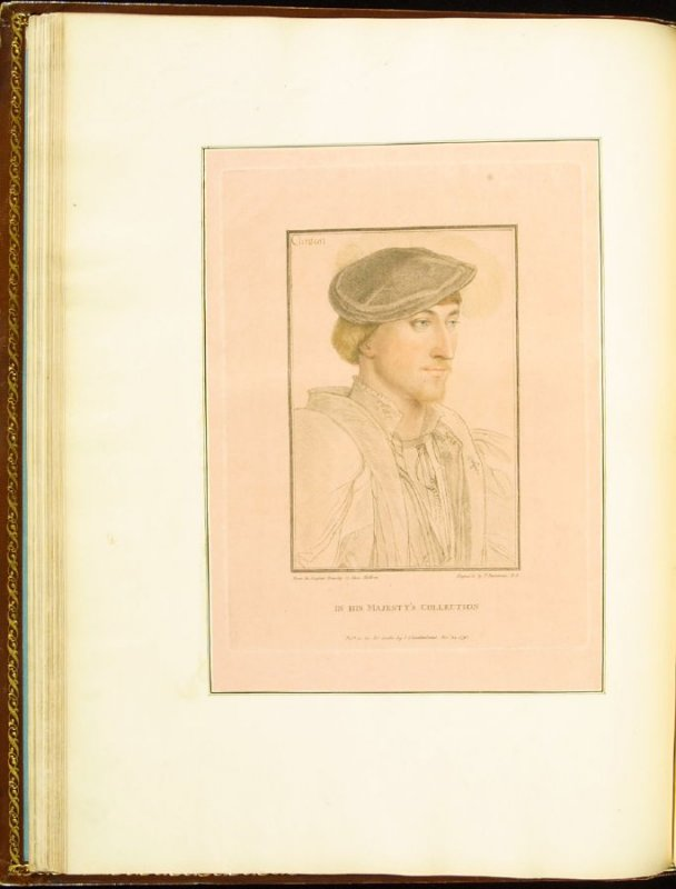 Lord Clinton (Edward, Lord Clinton, later Earl of Lincoln) , plate 25 in the book Imitations of Original Drawings by Hans Holbein in the Collection of His Majesty (London: John Chamberlaine, 1792)