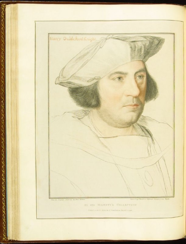 Sir Henry Guldeford (Sir Henry Guildford) , plate 38 in the book Imitations of Original Drawings by Hans Holbein in the Collection of His Majesty (London: John Chamberlaine, 1792)