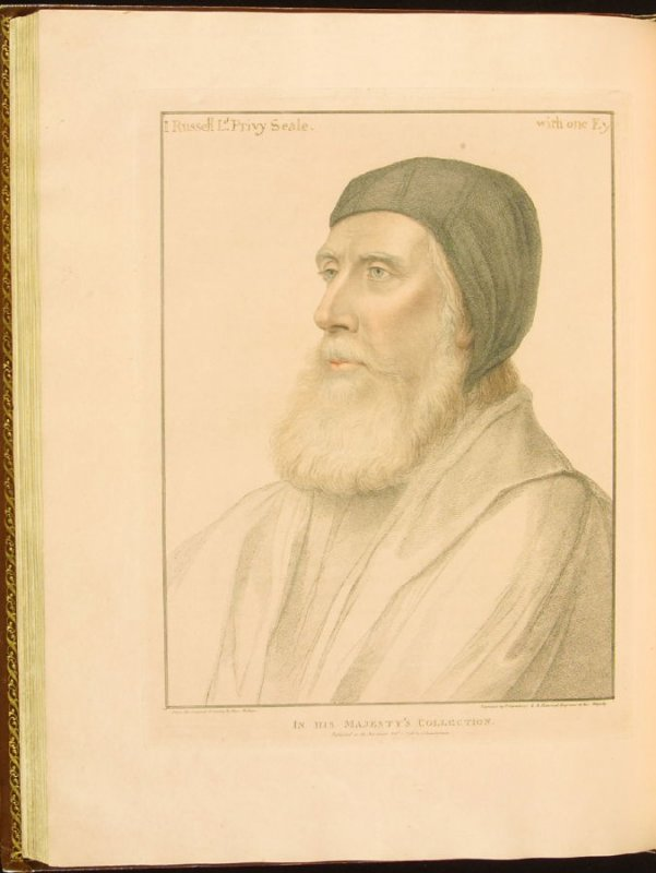 J. Russell, Lord Privy Seal , plate 66 in the book Imitations of Original Drawings by Hans Holbein in the Collection of His Majesty (London: John Chamberlaine, 1792)