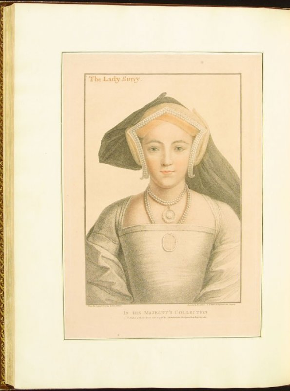 Countess of Surrey , plate 77 in the book Imitations of Original Drawings by Hans Holbein in the Collection of His Majesty (London: John Chamberlaine, 1792)