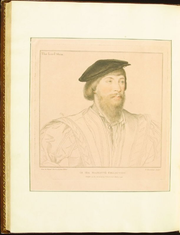 Lord Vaux , plate 78 in the book Imitations of Original Drawings by Hans Holbein in the Collection of His Majesty (London: John Chamberlaine, 1792)